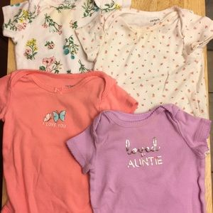 4 baby girl Bodysuits by Carter's